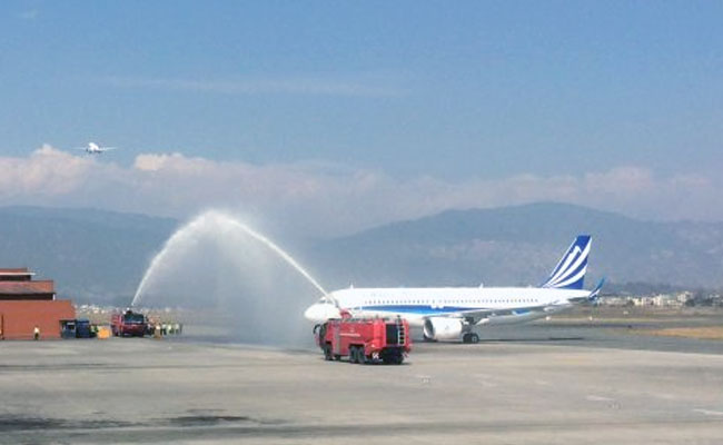 Himalaya Airlines' Airbus arrives