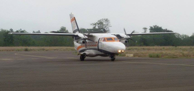 Goma Air plane receives bird-hit, all on board safe and sound