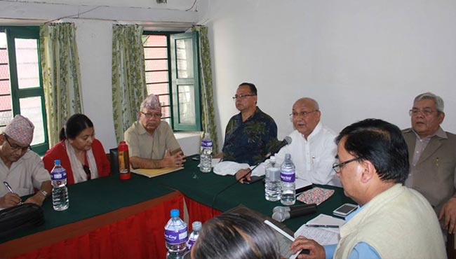 At CPN-UML central committee meeting, KP Sharma Oli's political report under scrutiny