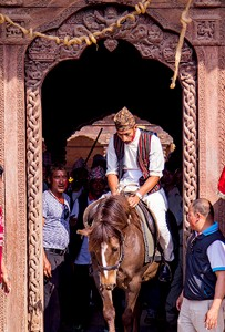 In pictures: Lalitpur observes four hundred-year-old 'lone rider' ritual