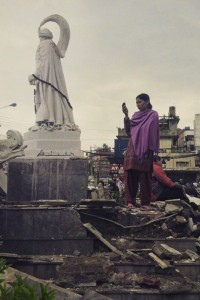 After the Nepal quake, caring, and food
