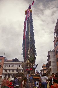It's time for the rain god's procession in Nepal's historic city Patan again!