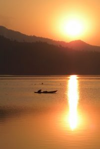 Silhouettes and Silence in Nepal's Begnas Lake