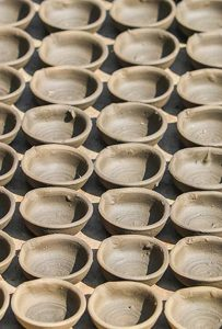 A step-by-step guide to making diyo, Nepali traditional earthen lamps