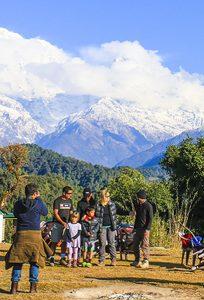 Thulo Kharka aka Australian Camp, where a busy hiker meets Annapurna range