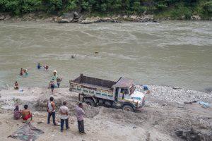 Pollution, excavation taking toll on Trishuli rafting