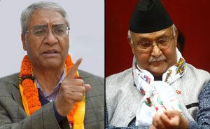 Oli urges Deuba to ask India for removal of 'illegal and unilateral' dams