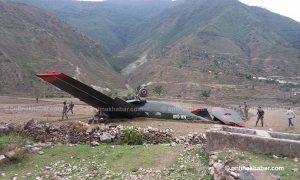 Update: Pilot killed, 2 rescued as Nepal Army plane overshoots runway in Bajura