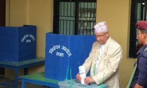 KP Sharma Oli accuses ruling parties of capturing booths
