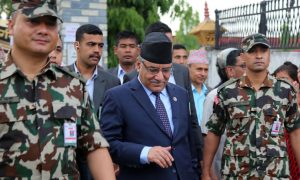 PM Dahal in Chitwan as his daughter leads vote count