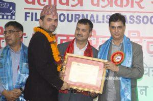 Onlinekhabar journalist Bijaya Subedi bags Film Journalism Award