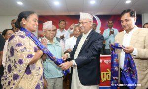RJPN central leader joins UML on nomination day