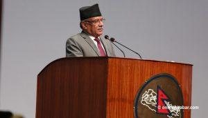 Dahal defends constitution amendment bill, actions of his govt