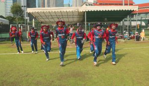 Three in a row: Nepal defeat Singapore by seven wickets
