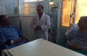 Dahal visits hospitalised Bhattarai, holds 'serious talks' on contemporary issues