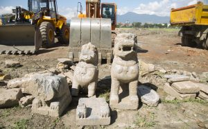 Campaigners call to preserve rubble from archaeological buildings