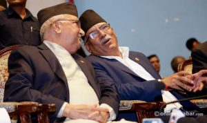 Oli, Dahal to address each other's party meetings
