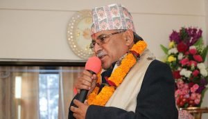 I and Oli are determined not to go back from unification: Dahal