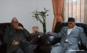 Oli, Dahal meeting today to discuss party unification, government formation