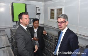 British minister visits Nepal Red Cross Society's Blood Transfusion Centre