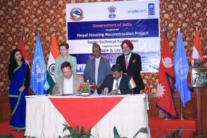 India, UNDP sign agreement to reconstruct of 50,000 houses in Gorkha, Nuwakot