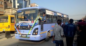 Amid organisations' bargaining, Mayur Yatayat resumes bus service in Kathmandu