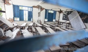 Funding crisis mars reconstruction of schools destroyed by 2015 earthquake