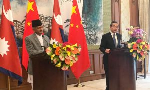Chinese Foreign Minister meeting Nepal's Gyawali among other South Asian leaders on Covid-19