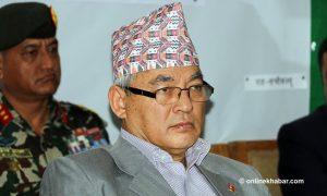 Influential NCP leader Ram Bahadur Thapa changes camp; now an Oli ally