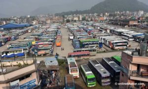 Long-route public buses resume operation after six months