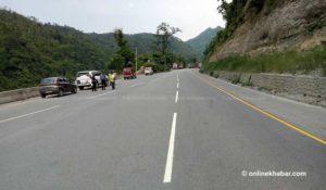 (Updated) Traffic movement resumes along landslide-blocked Narayangadh-Muglin road