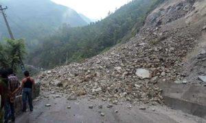 Landslide obstructs Narayangadh-Muglin road