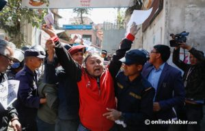 Civil society leaders demonstrate against deal with Raut
