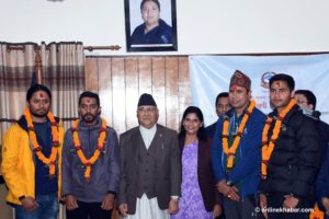 Nepal PM bids farewell to Everest measurement team
