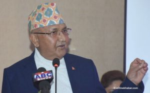Oli says Nepal is ahead of developed countries in women rights