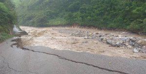 Baglung pond bursts, destroys Mid-Hill Highway