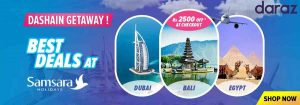 Daraz offers exclusive discounts on holiday packages