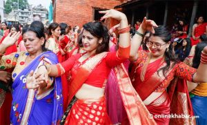 Covid-19 fears mar Teej celebrations across Nepal