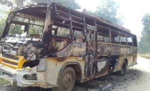 Unidentified group torches bus in Kailali