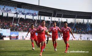 SAG football: Nepali men beat Bhutan 4-0