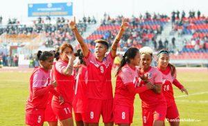 SAG football: Nepali women defeat Sri Lankans