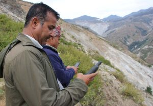 Towards digital Nepal: Enabling citizen scientists of remote districts to map their location