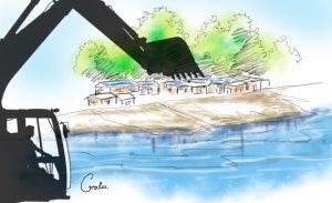 City govt demolishes landless people's huts in Chobhar