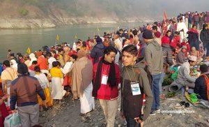 Devotees throng Devghat on Maghe Sankranti