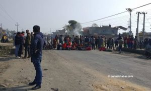 Locals obstruct Kailali road demanding probe into accident