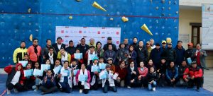 Open wall climbing competition in Kathmandu