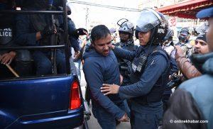Police arrest Sajha leaders outside CIAA office