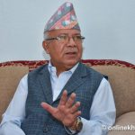 Madhav Nepal wants govt to revoke decision about not bearing cost of Covid-19 treatment