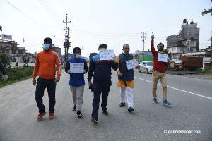 Despite lockdown, opposition students resort to street protests against govt