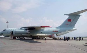 Chinese Army aircraft comes to Kathmandu to deliver medical equipment